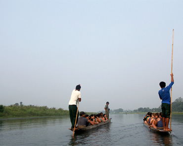 Canoeing in Rapti River
